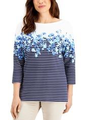 Karen Scott Mixed-Print Top, Created for Macy's