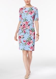 Karen Scott Petite Floral-Print T-Shirt Dress, Created for Macy's