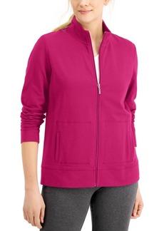 Karen Scott Petite French Terry Mock-Neck Jacket, Created for Macy's