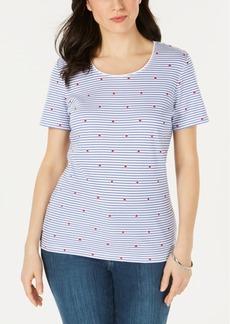 Karen Scott Printed Short-Sleeve T-Shirt, Created for Macy's