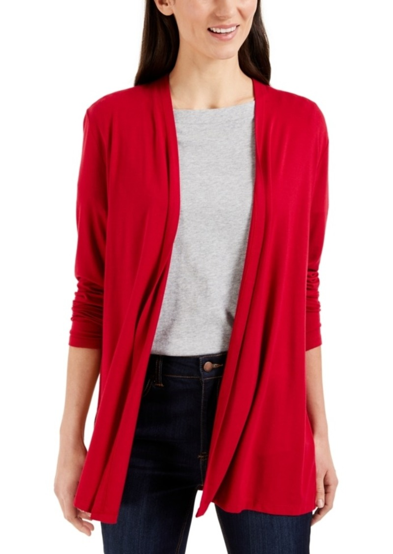 Karen Scott Petite Jersey Knit Cardigan, Created for Macy's
