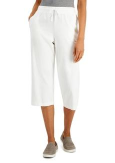 Karen Scott Petite Knit Drawstring Capri Pants, Created for Macy's