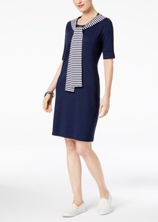 Karen Scott Petite Layered-Look Dress, Created for Macy's