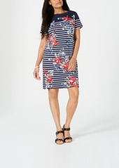 Karen Scott Petite Liberty Garden Dress, Created for Macy's