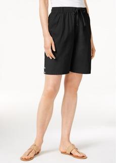 Karen Scott Petite Lisa Pull-On Shorts, Only at Macy's