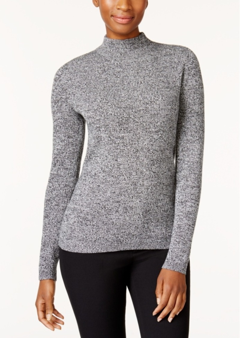 b071223334742 SALE! Karen Scott Karen Scott Petite Marled Mock-Neck Cotton Sweater ...