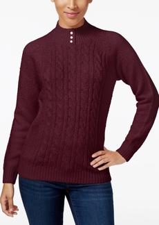 Karen Scott Karen Scott Ruffled Poncho Sweater Created For Macys