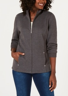 Karen Scott Zipper Mock-Neck Jacket, Created for Macy's
