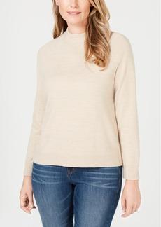 Karen Scott Luxsoft Zip-Back Mock-Neck Sweater, Created for Macy's