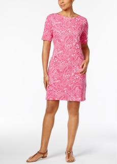 Karen Scott Petite Paisley-Print Shift Dress, Only at Macy's