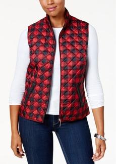 Karen Scott Petite Plaid Puffer Vest, Created for Macy's