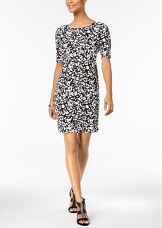 Karen Scott Petite Printed Boat-Neck Shift Dress, Created for Macy's