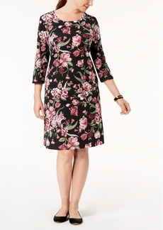 Karen Scott Petite Printed Swing Dress, Created for Macy's