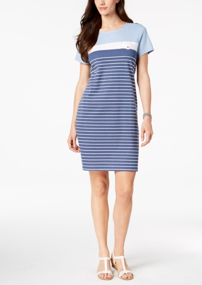 e0c97d39f6ef Karen Scott Karen Scott Petite Striped T-Shirt Dress, Created for ...