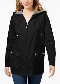 Karen Scott Petite Water Resistant Rain Jacket, Created for Macy's
