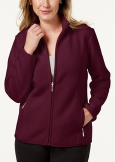 Karen Scott Petite Zeroproof Fleece Jacket, Created for Macy's