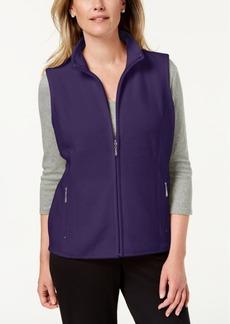 Karen Scott Zeroproof Fleece Vest, Created for Macy's