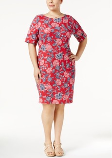 Karen Scott Plus Size Bandana-Print Dress, Created for Macy's