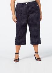 Karen Scott Plus Size Button-Hem Capri Pants, Created for Macy's