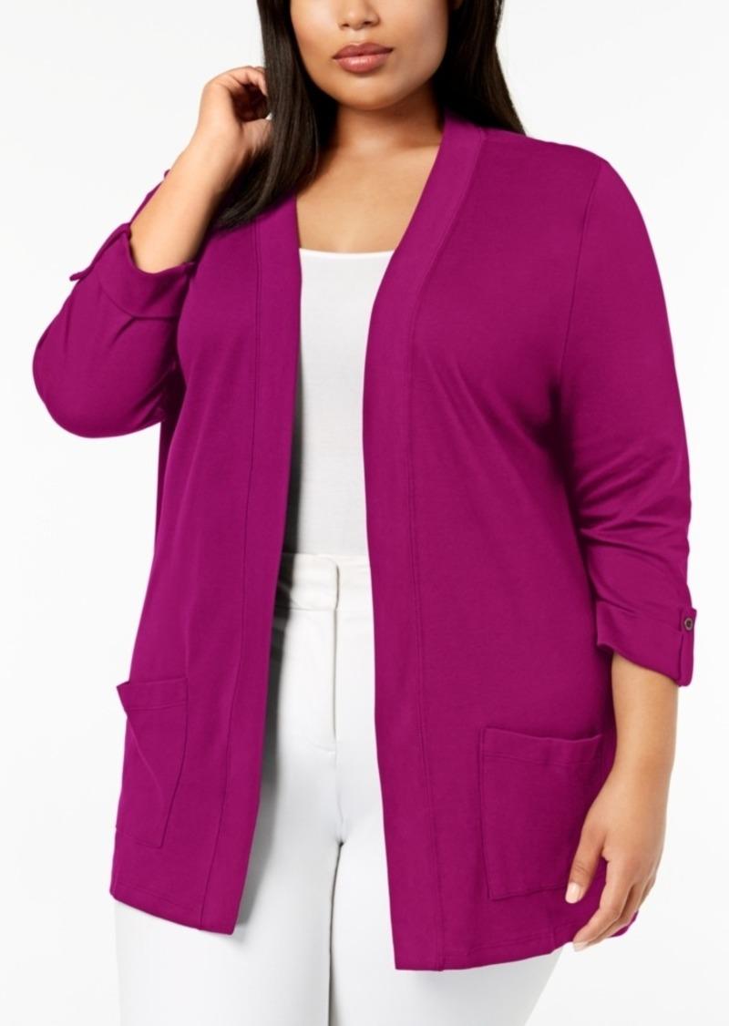 1a323447e47 On Sale today! Karen Scott Karen Scott Plus Size Cotton 3 4-Sleeve ...