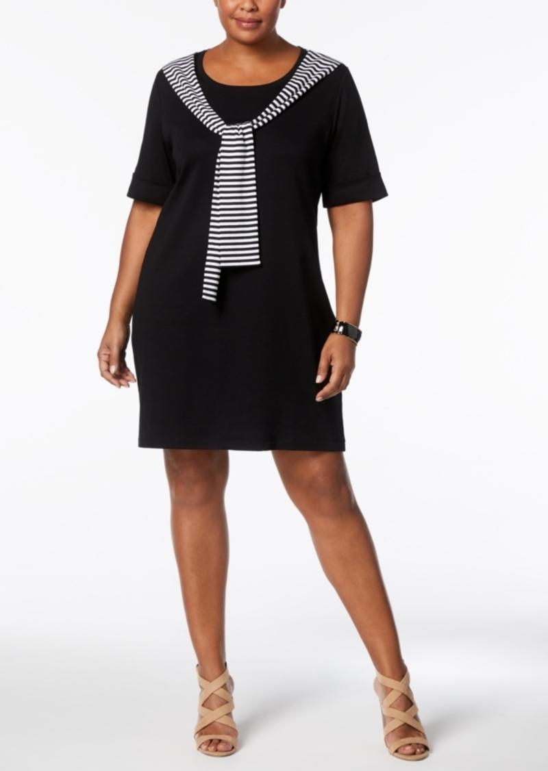 c5834dfbcc56e SALE! Karen Scott Karen Scott Plus Size Cotton Tie-Front T-Shirt ...