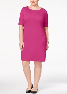 Karen Scott Plus Size Elbow-Sleeve T-Shirt Dress, Created for Macy's