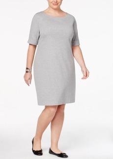 Karen Scott Plus Size Elbow-Sleeve T-Shirt Dress, Only at Macy's