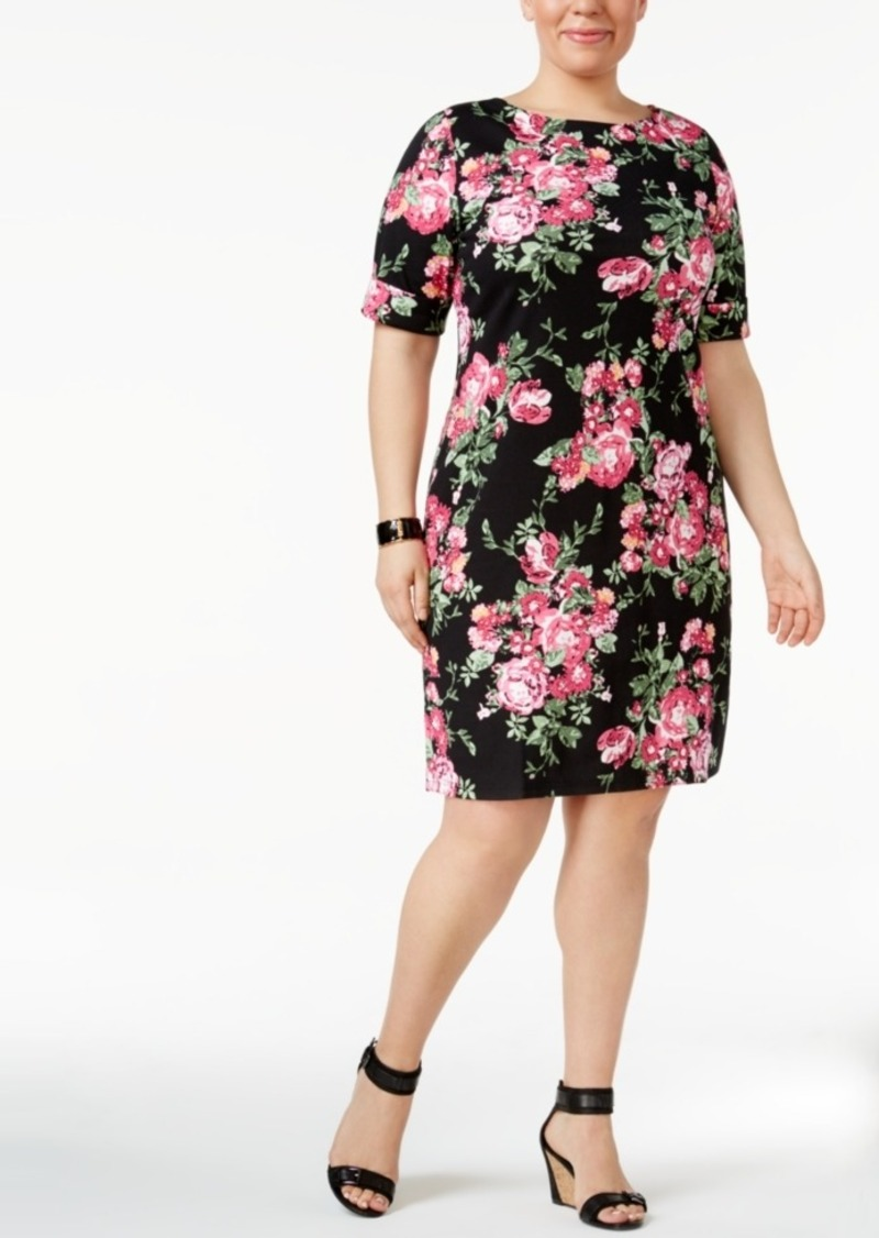 Plus Size Floral-Print Dress, Created for Macy\'s