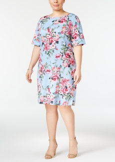Karen Scott Plus Size Floral-Print Dress, Only at Macy's