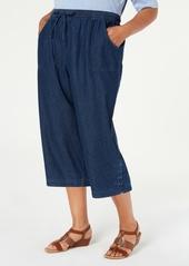 Karen Scott Plus Size Kiera Capri Jeans, Created for Macy's