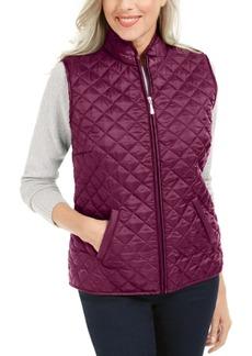 Karen Scott Plus Size Quilted Zip-Front Vest, Created for Macy's