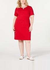 Karen Scott Plus Size Ribbed Dress, Created for Macy's