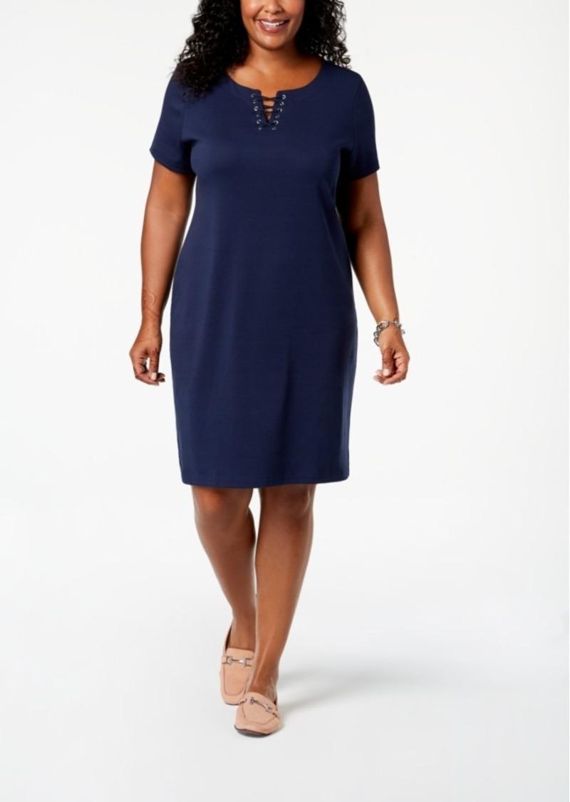 Karen Scott Karen Scott Plus Size Sheath Dress, Created for Macy\'s ...