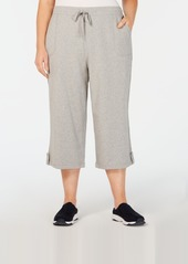 Karen Scott Plus Size Terry Drawstring Capri Pants, Created for Macy's