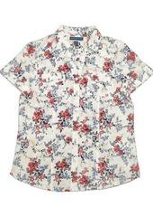 Karen Scott Plus Size Tuscan Garden Cotton Shirt, Created for Macy's