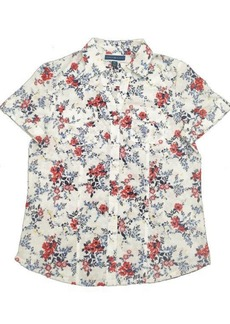 Karen Scott Plus Size Tuscan Garden Cotton Shirt, Created for Macy's