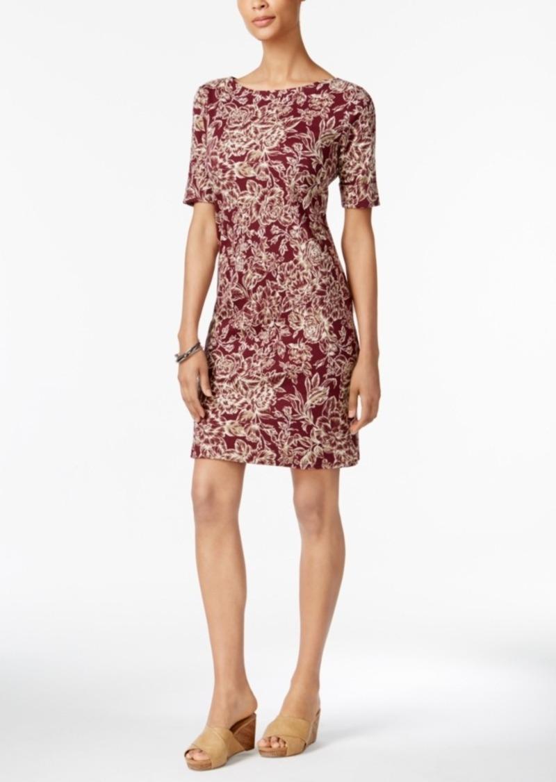 Karen Scott Print T-Shirt Dress, Created for Macy's