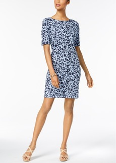 Karen Scott Printed Elbow-Sleeve Dress, Created for Macy's