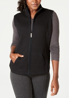 Karen Scott Petite Quilted Zip-Front Vest, Created for Macy's