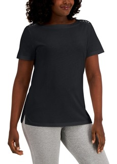 Karen Scott Ring-Trim Top, Created for Macy's