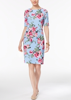 Karen Scott Petite Floral-Print Sheath Dress, Only at Macy's