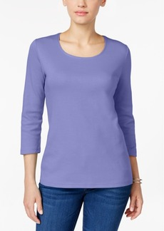 Karen Scott Scoop-Neck Top, Created for Macy's
