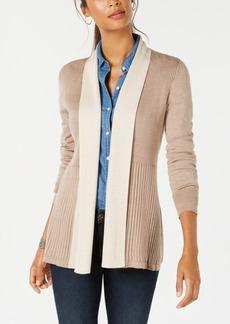 Karen Scott Shawl-Lapel Textured Cardigan, Created for Macy's