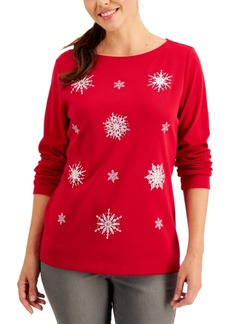 Karen Scott Festive Print Top, Created for Macy's