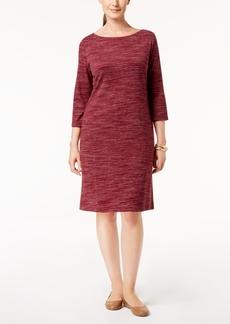 Karen Scott Petite Space-Dyed Dress, Created for Macy's