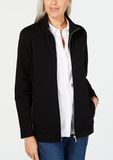 Karen Scott Stand-Collar Zip-Front Jacket, Created for Macy's