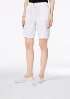 Karen Scott Tie-Hem Bermuda Shorts, Only at Macy's