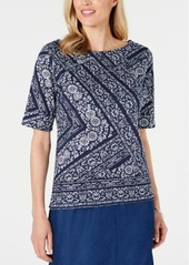 Karen Scott Venice Vines Printed Top, Created for Macy's