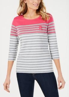 Karen Scott Yazmin Striped Top, Created for Macy's