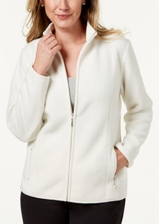Karen Scott Zip-Up Fleece Jacket, Created for Macy's